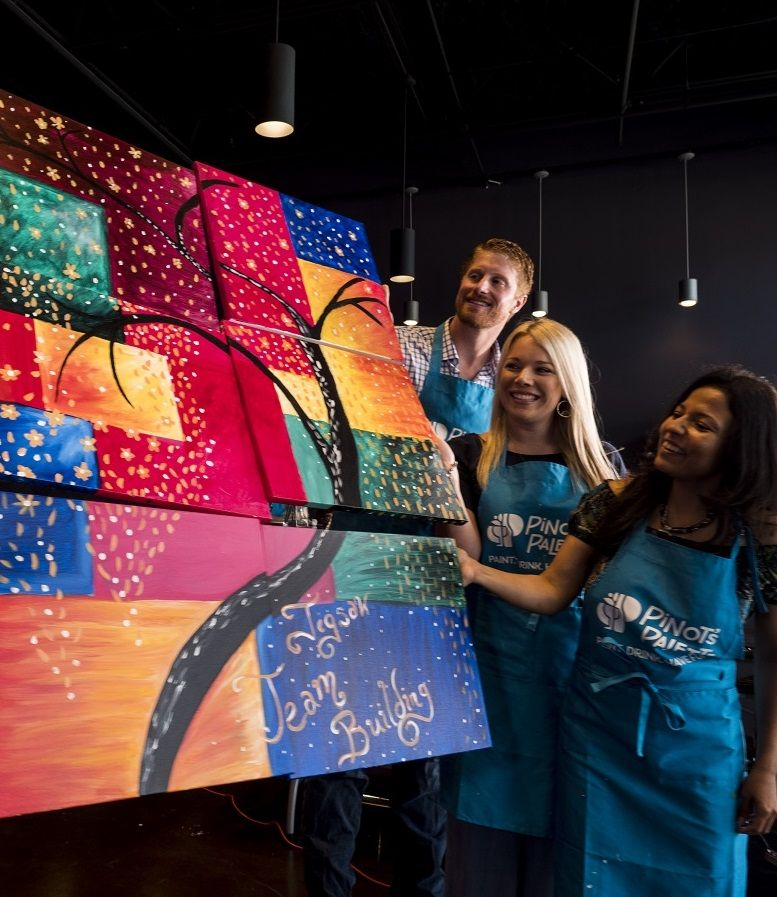 Jigsaw Paintings Make The Perfect Team Building Event For Any Group And Are Fully Customizable Teambuilding Painti Team Building Events Team Building Teams