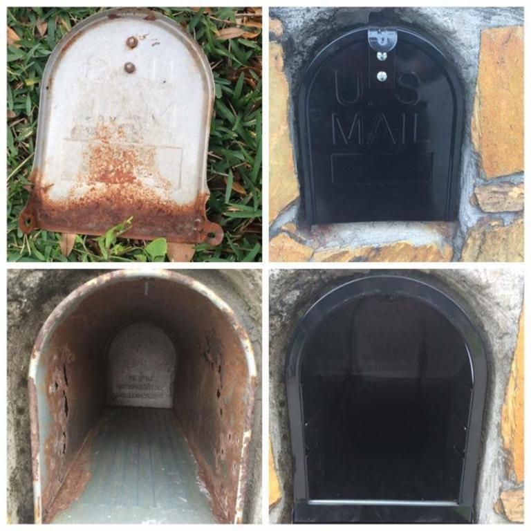 How To Replace A Mailbox In A Brick Enclosure Brick Mailbox Diy