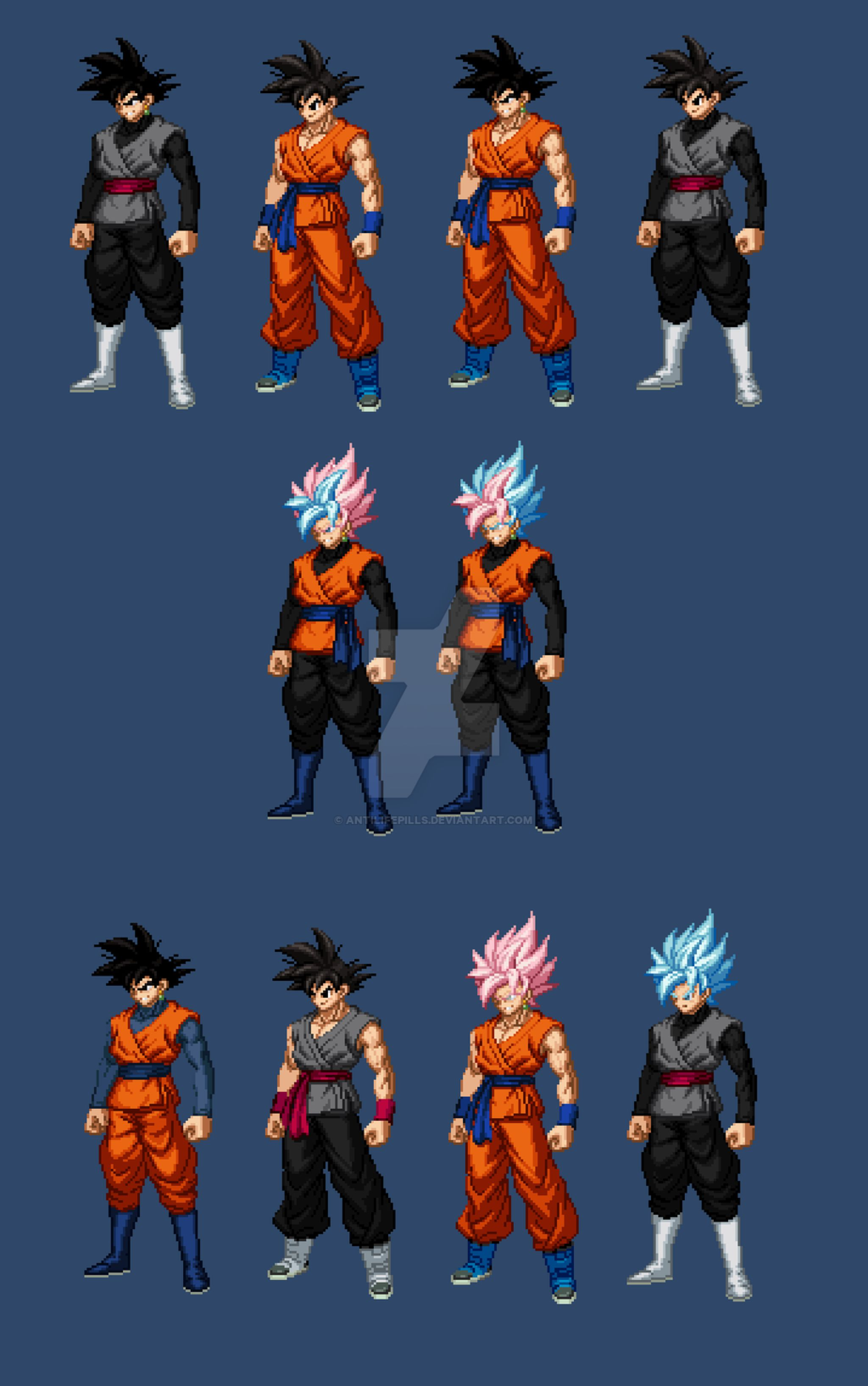 Goku And Goku Black Extreme Butoden By Antilifepills On
