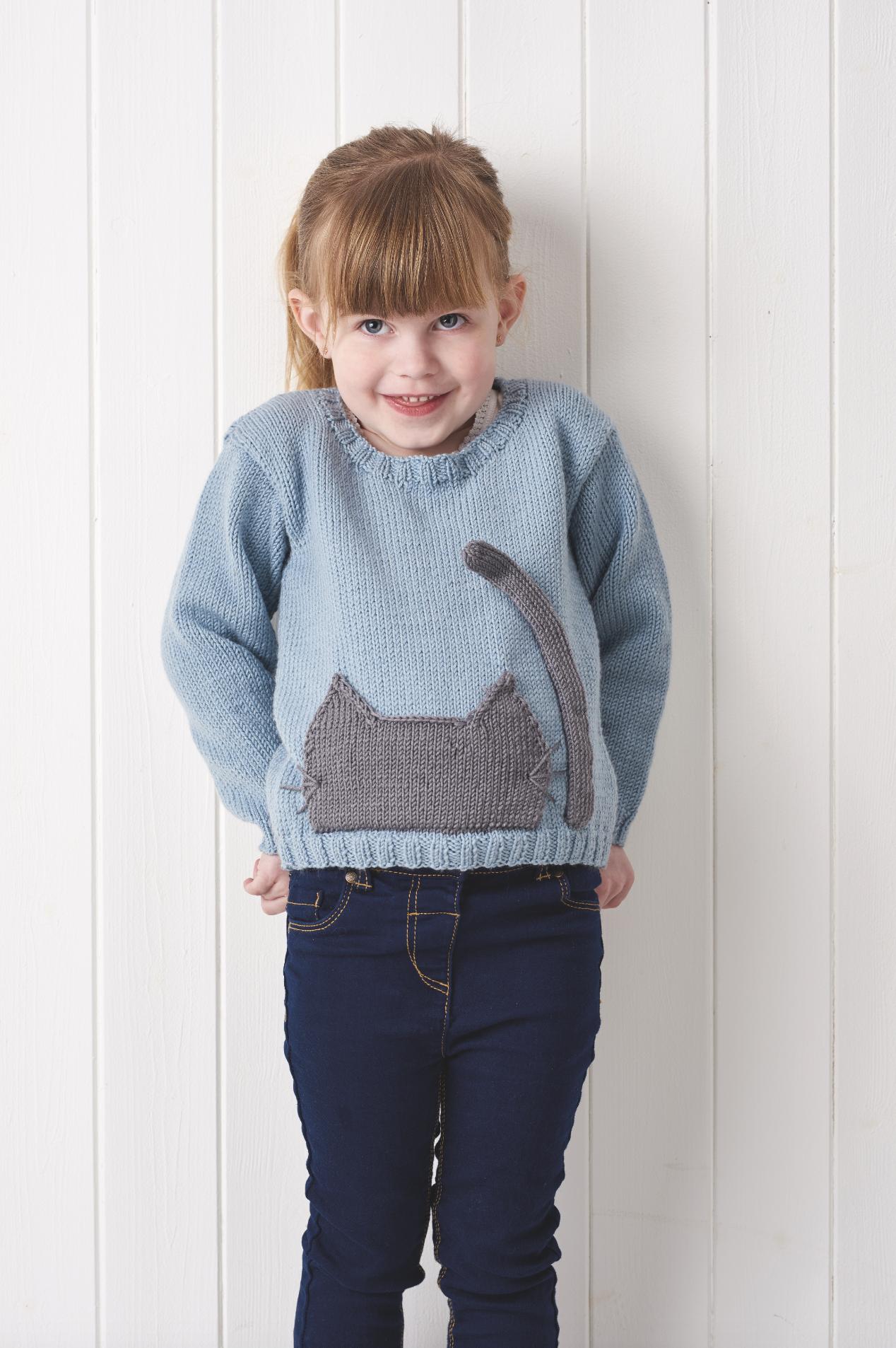 Feline Fine Child's Cat Jumper in Simply Knitting Magazine ...