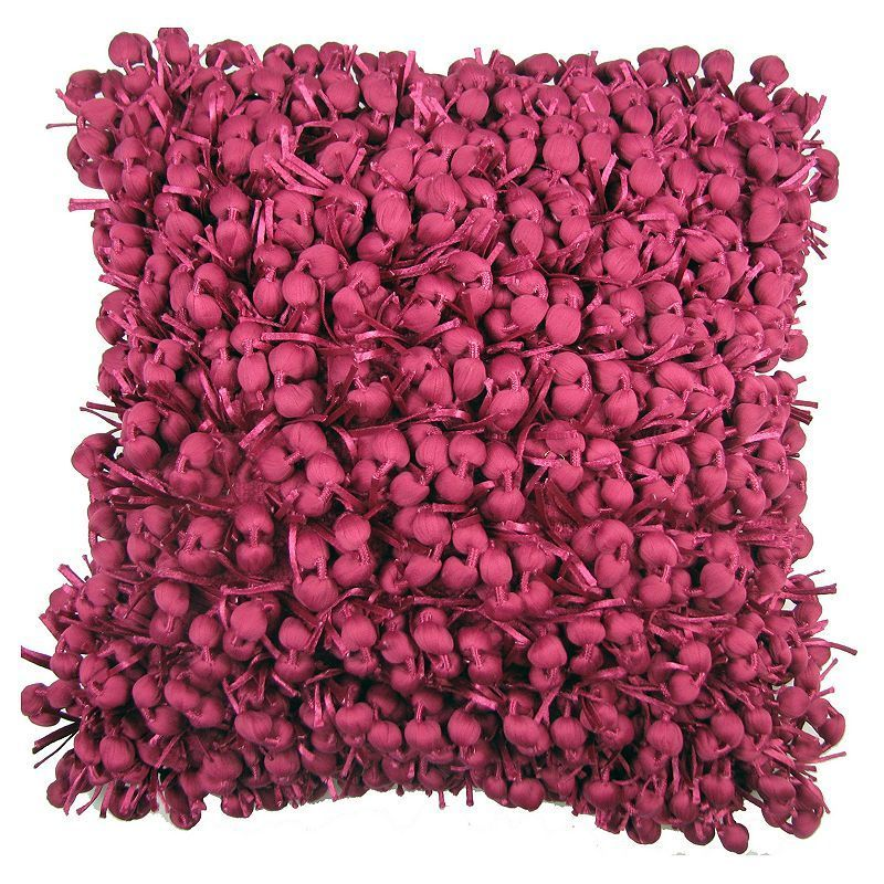 Design Accents Funberry Textured Throw Pillow,