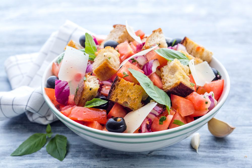PANZANELLA ~ This recipes to us from our friends at Chop Chop