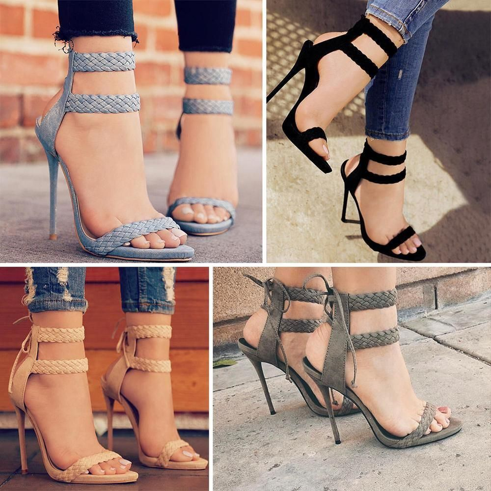 Zapatos negros de punta abierta formales Pare Gabia para mujer E1urD3