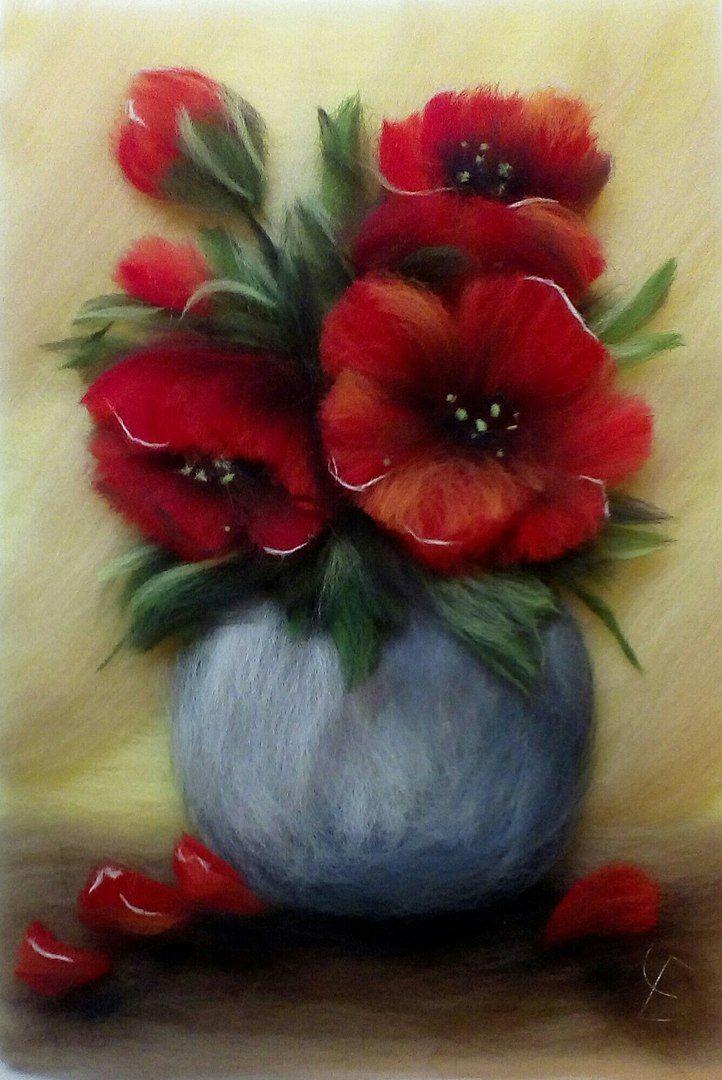 Цветы из валяния картинки