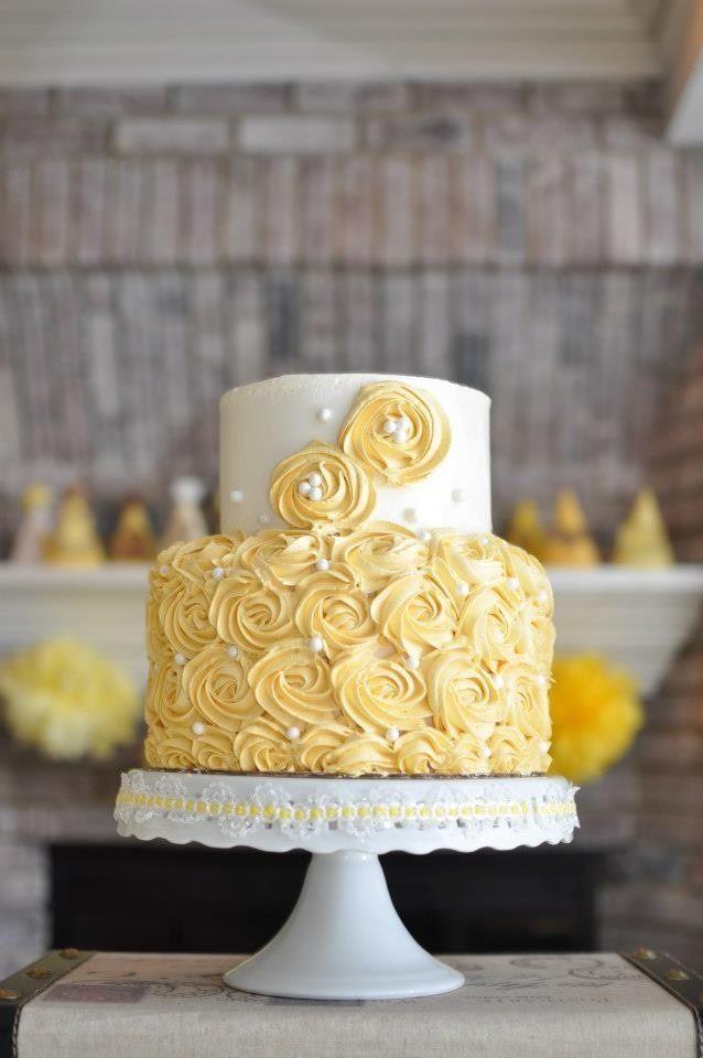 2 tier cake rosettes - Google Search