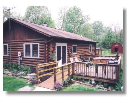 Family Log Cabin Near Nashville, In Beautiful Brown County Indiana