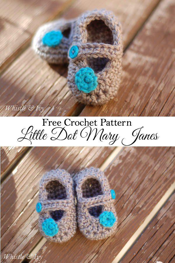 Crochet Mary Janes for Baby - Free Crochet Pattern | Häkeln ...