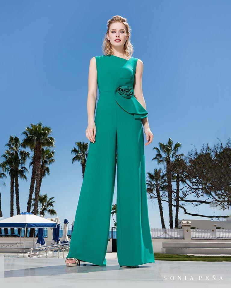 4eed2d26d Vestidos de fiesta 2019. Colección Primavera Verano 2019 Balcón del Mar. Sonia  Peña - Ref. 1190176 Mono br Ref  1190241 Mono con chal
