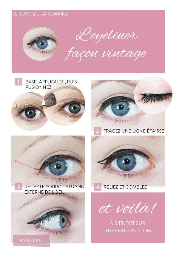 Comment appliquer l eyeliner pour un look r tro make up pinterest eyeliner comment et r tro - Comment mettre de l eye liner ...