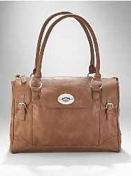 Perfect Caramel colored satchel at a great price. I can always count on NY&Co!