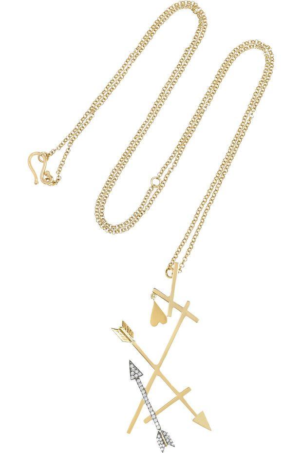 Elena Votsi - Eros 18-karat gold diamond necklace