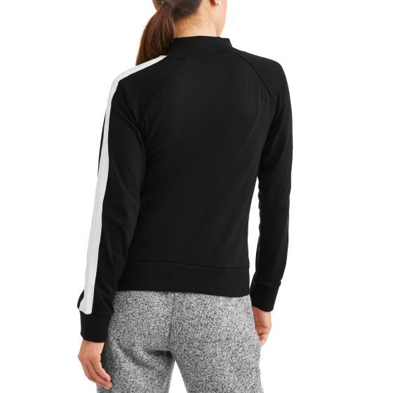 Women\'s Athleisure Essential Athletic Stripe Mockneck Jacket ...