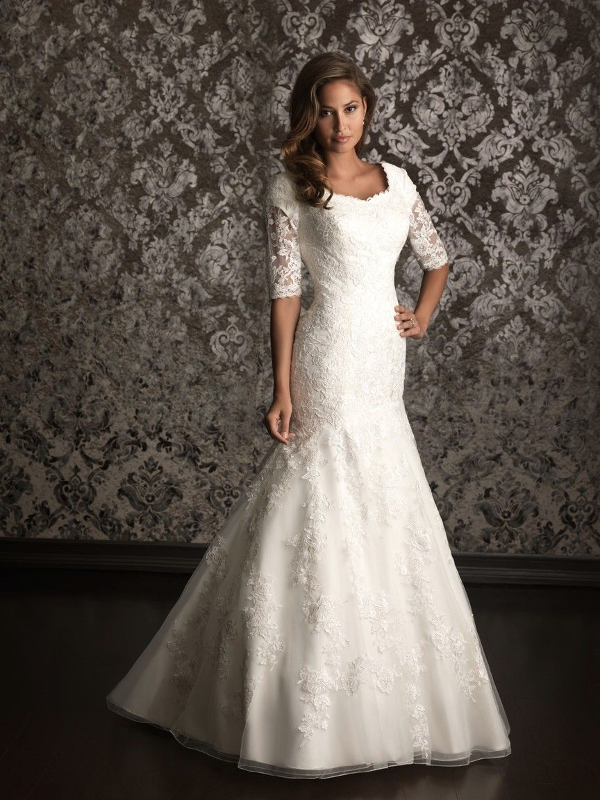 Allure modest wedding dresses style m m wedding dresses