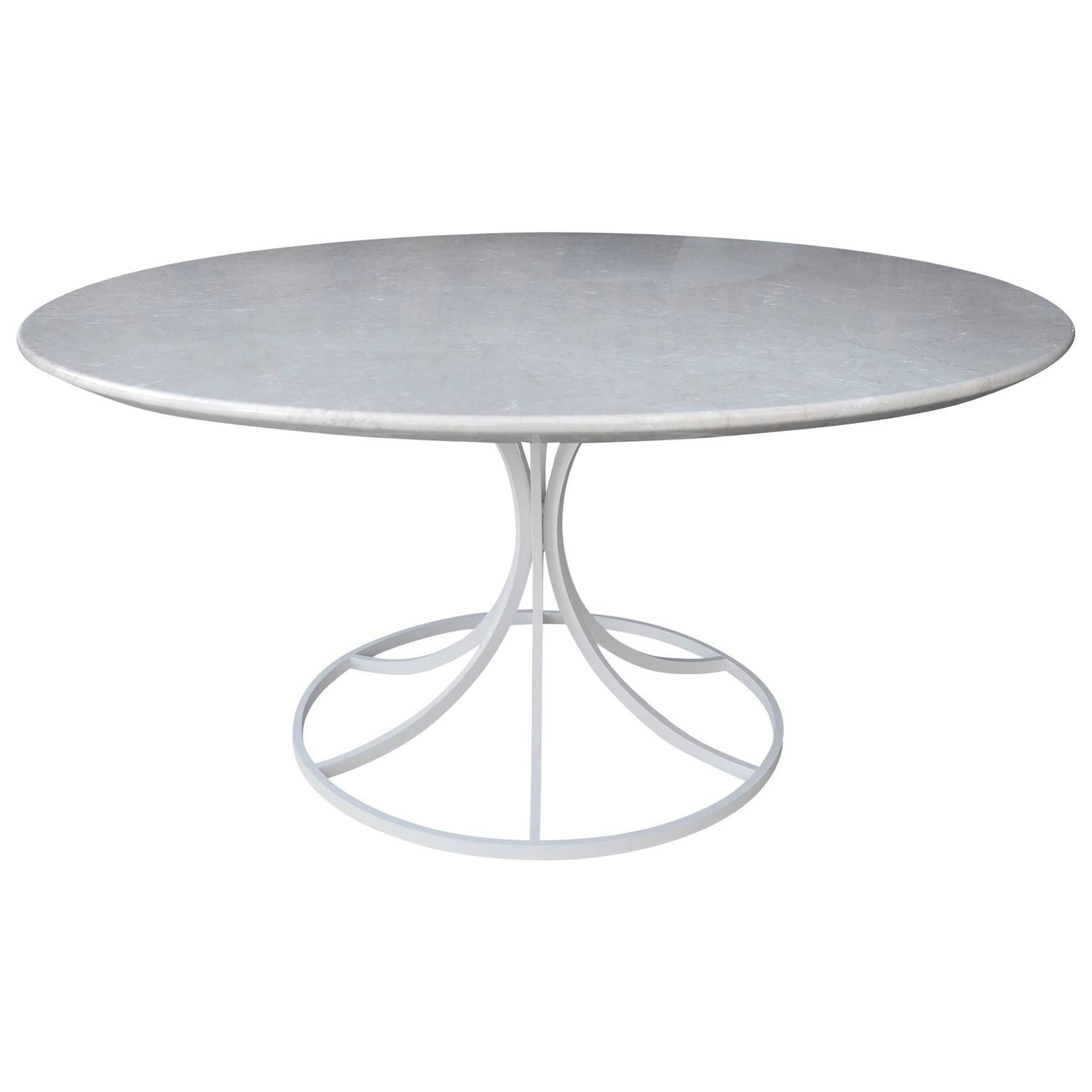 Rare Erwine And Estelle Laverne Lotus Modern Marble Coffee Table,