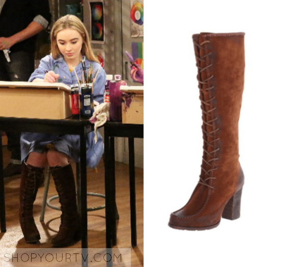 Maya Hart (Sabrina Carpenter) wears these knee high lace up suede ...