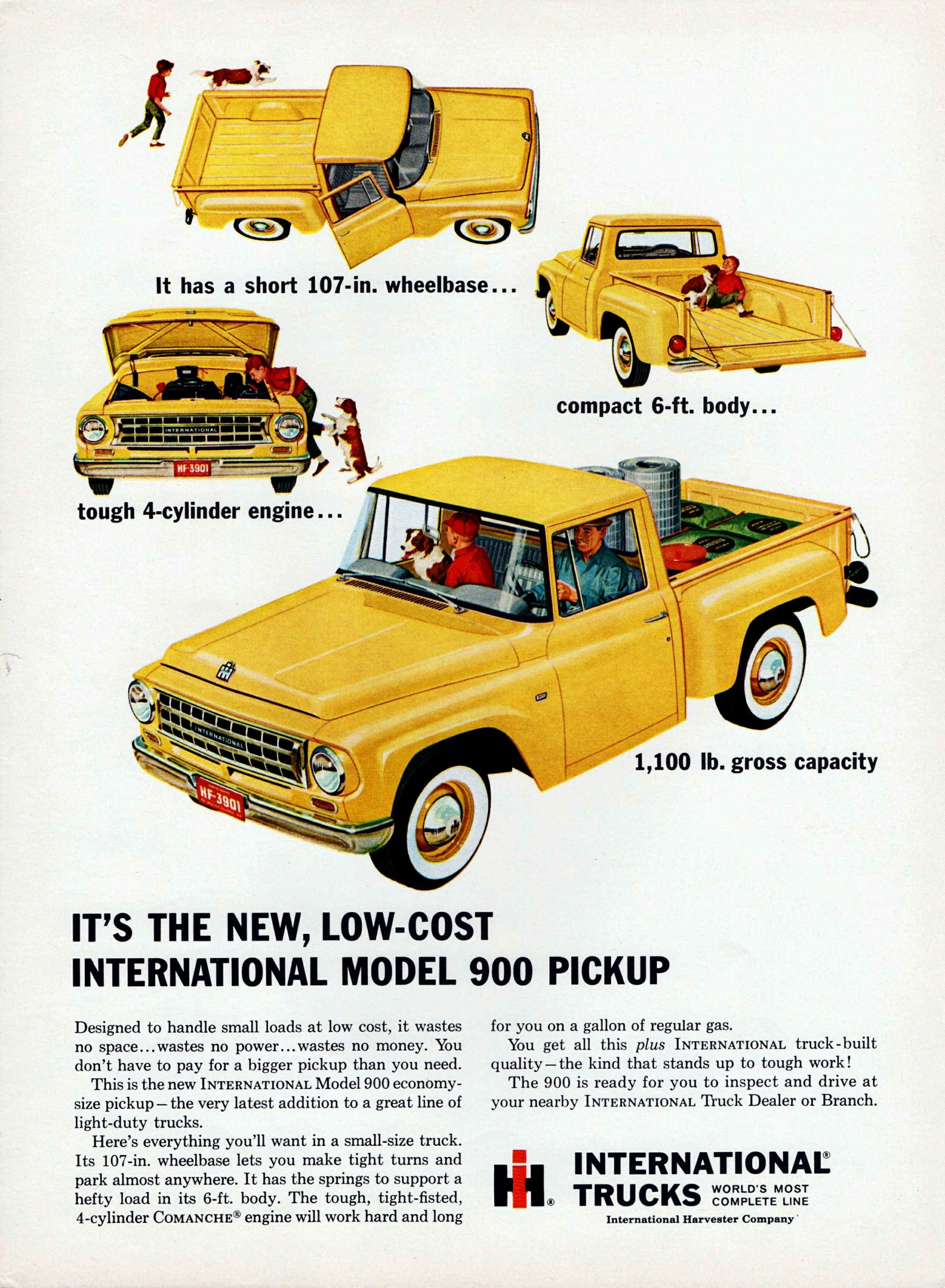 It\'s The New, Low-Cost International Model 900 Pickup, 1963 ...