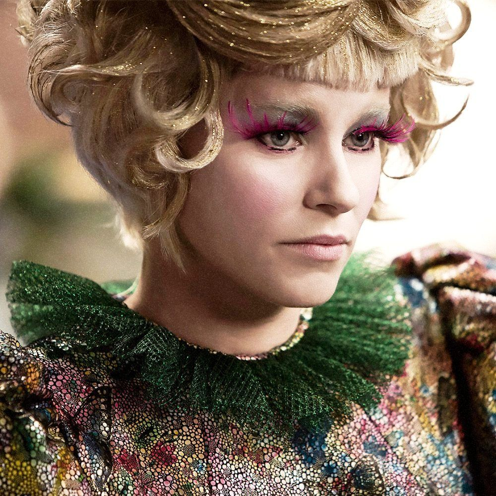 Hungergames19 hunger games i have my gold hair katniss has her mockingjay pin effie catching fire buycottarizona Gallery