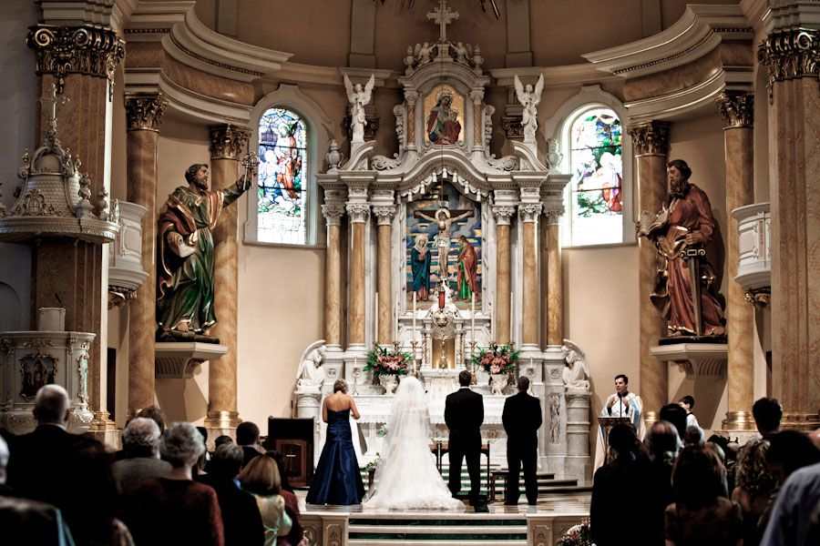 Minnesota Wedding Ceremony Locations: Wedding Ceremony At The Church Of St. Agnes In St. Paul