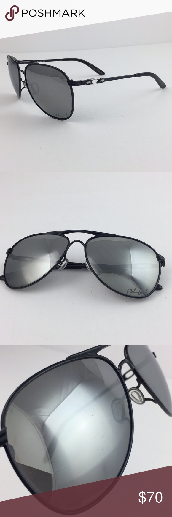 ad3beec95e Oakley Daisy Chain Black Polarized Chrome Aviator SOLD AS-IS. Frames are in  good condition. Lenses have scratches that will bother you and will need to  be ...