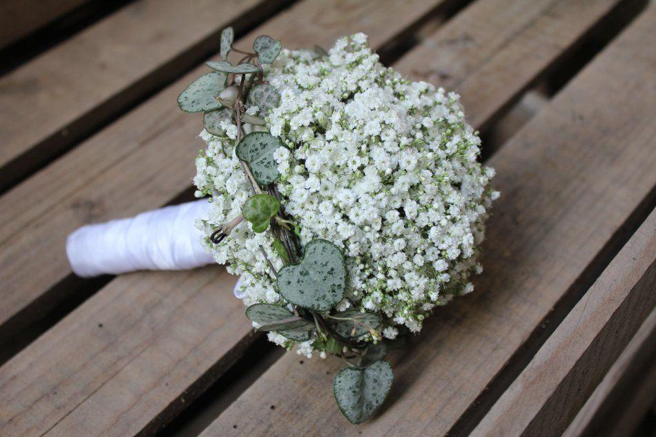 Schleierkrautkugel als Brautstrauss / Wedding