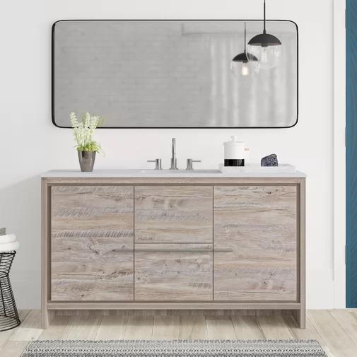 Bosley Modern 59 Single Bathroom Vanity Set Single Bathroom
