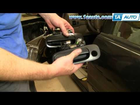 How To Install Replace Broken Exterior Front Door Handle Toyota Corolla 98 02 1aauto Com Front Door Handles Exterior Door Handles Exterior Front Doors