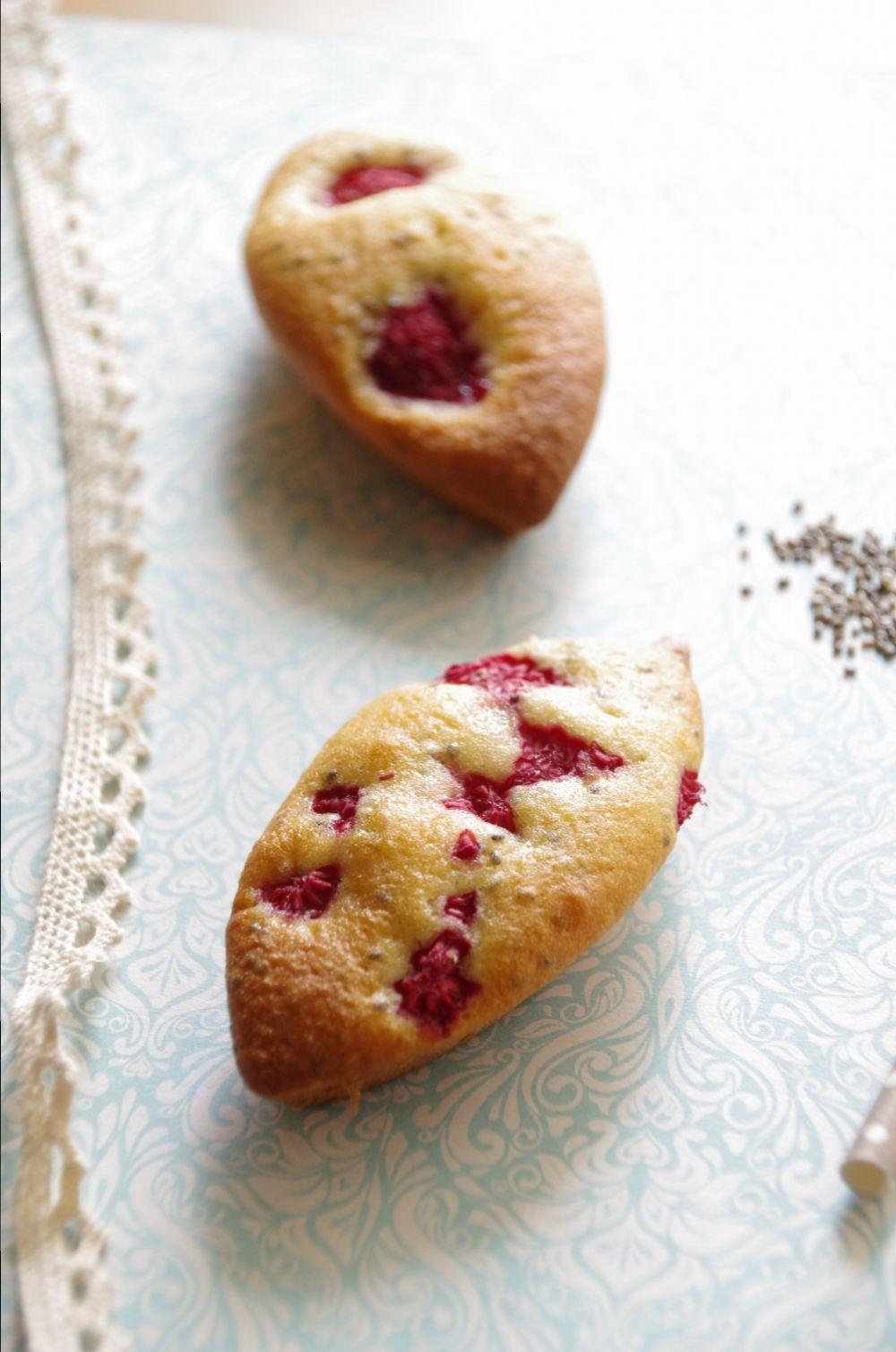 Petits gâteaux aux framboises et graines de chia Petits