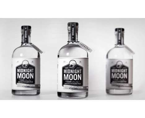 The Midnight Moon Moonshine Bottles are Dark and Mysterious