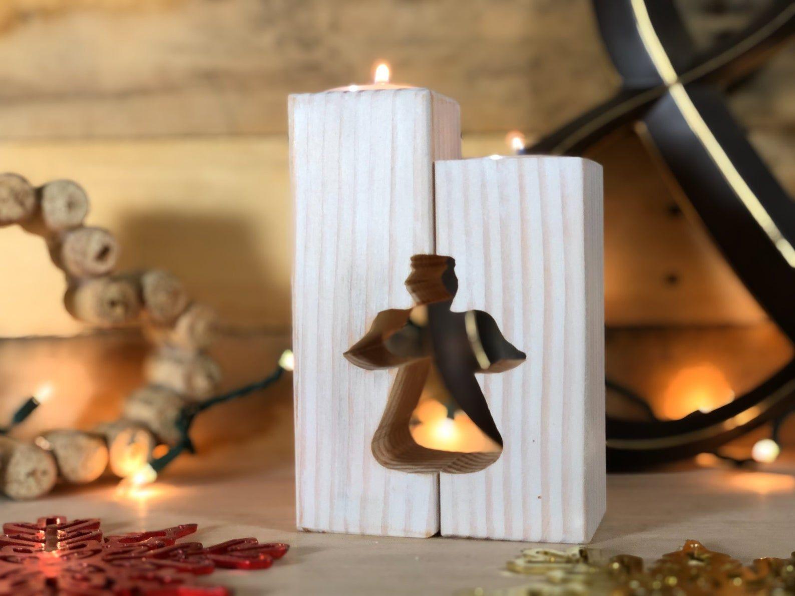 Photo of Portacandele Rustico Angelo – Portacandele Avvento – Decorazioni per manto Portacandele antichi antichi da tè Candele di Natale