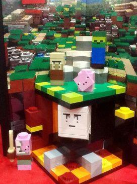 Giant Minecraft Lego Display