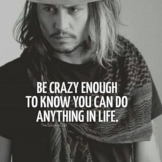 Inspirational Positive Quotes :Be crazy enough to know you can do anything in life. ift.tt/1QWx9sf…