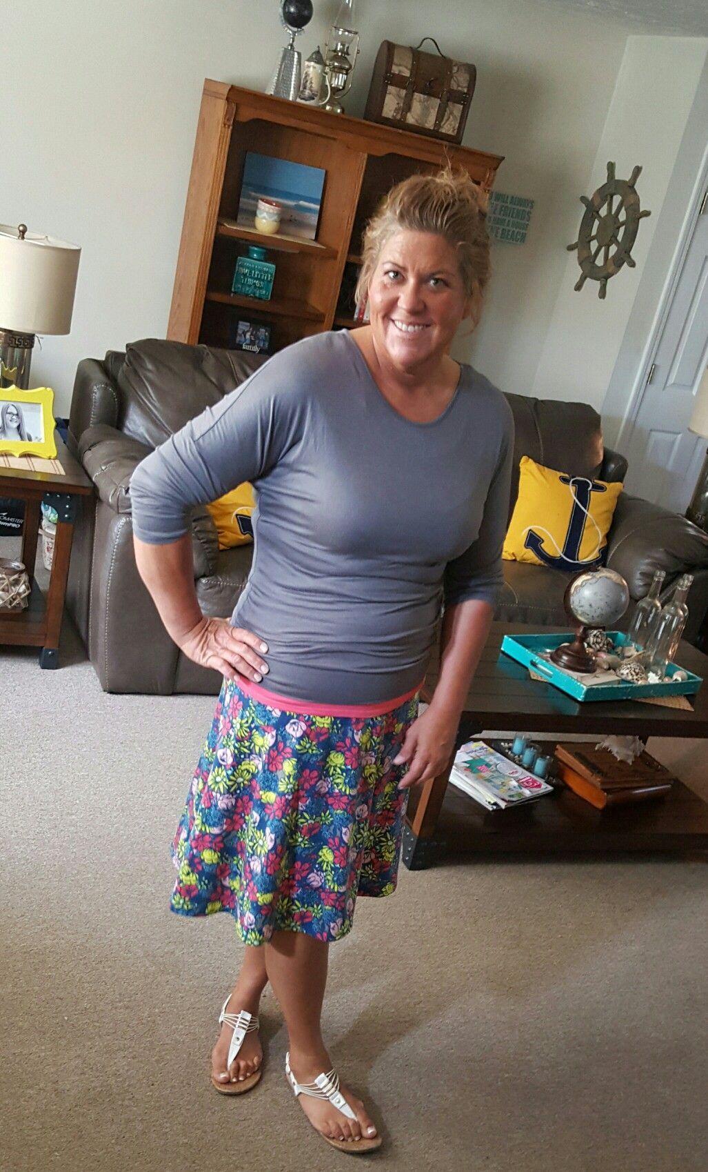 AZURE - LULAROE... First time wearing azure... Loved it!!!
