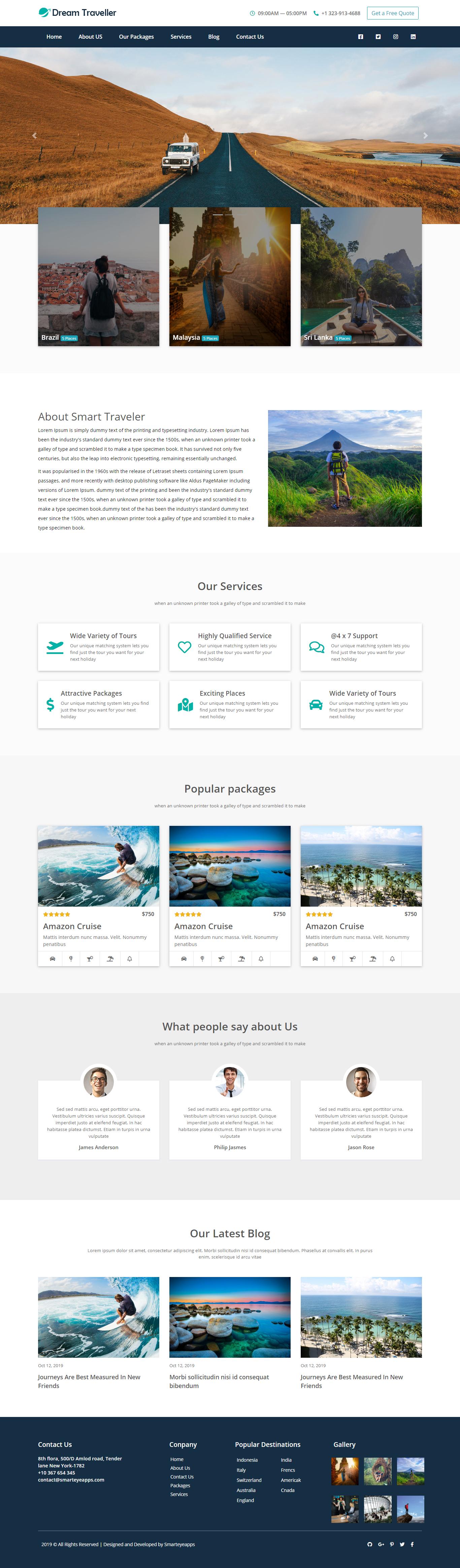 Free Travel Agency Website Template Travel Agency Website Interior Design Website Templates Portfolio Website Design