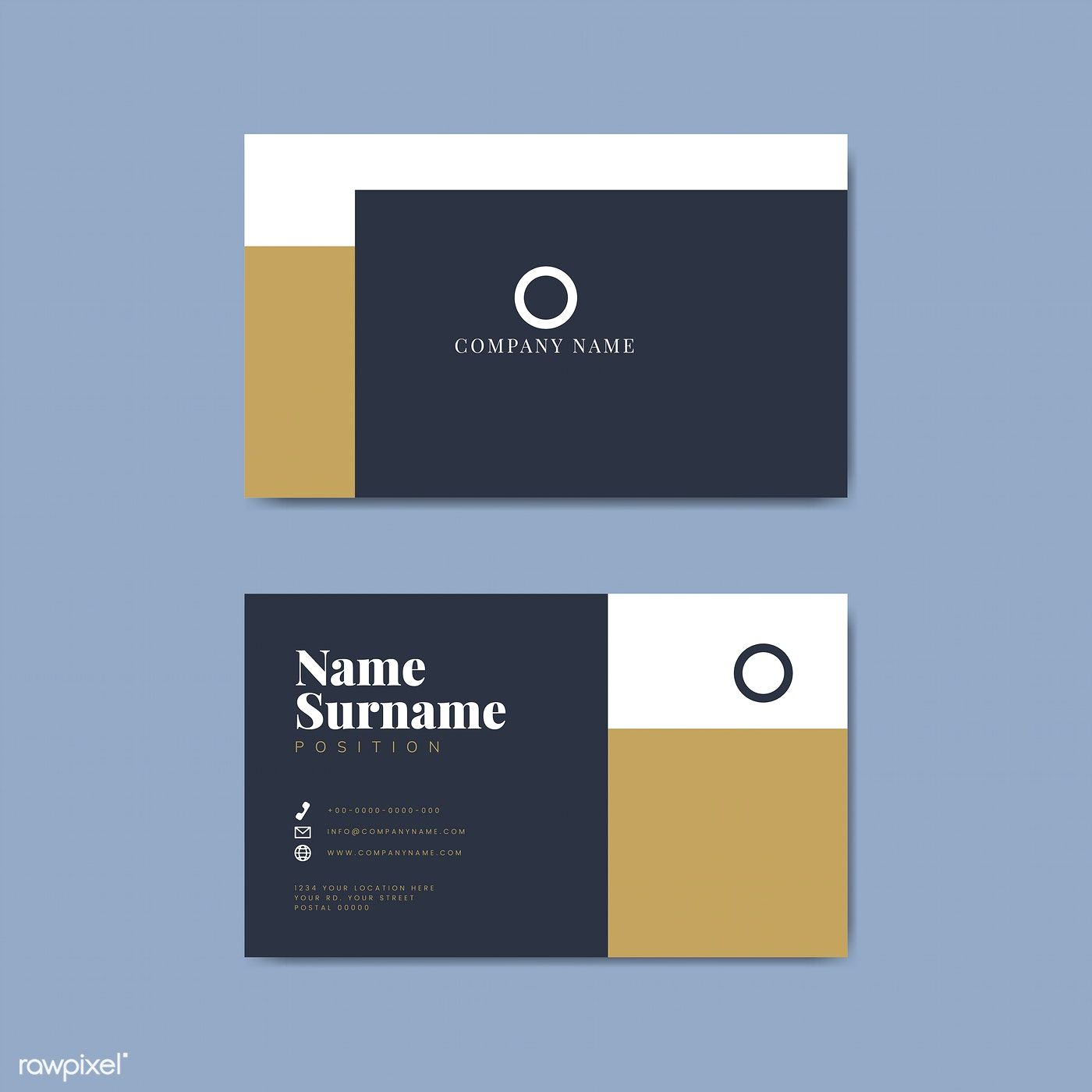 Monotone Business Card Template Mockup Vector Free Image By