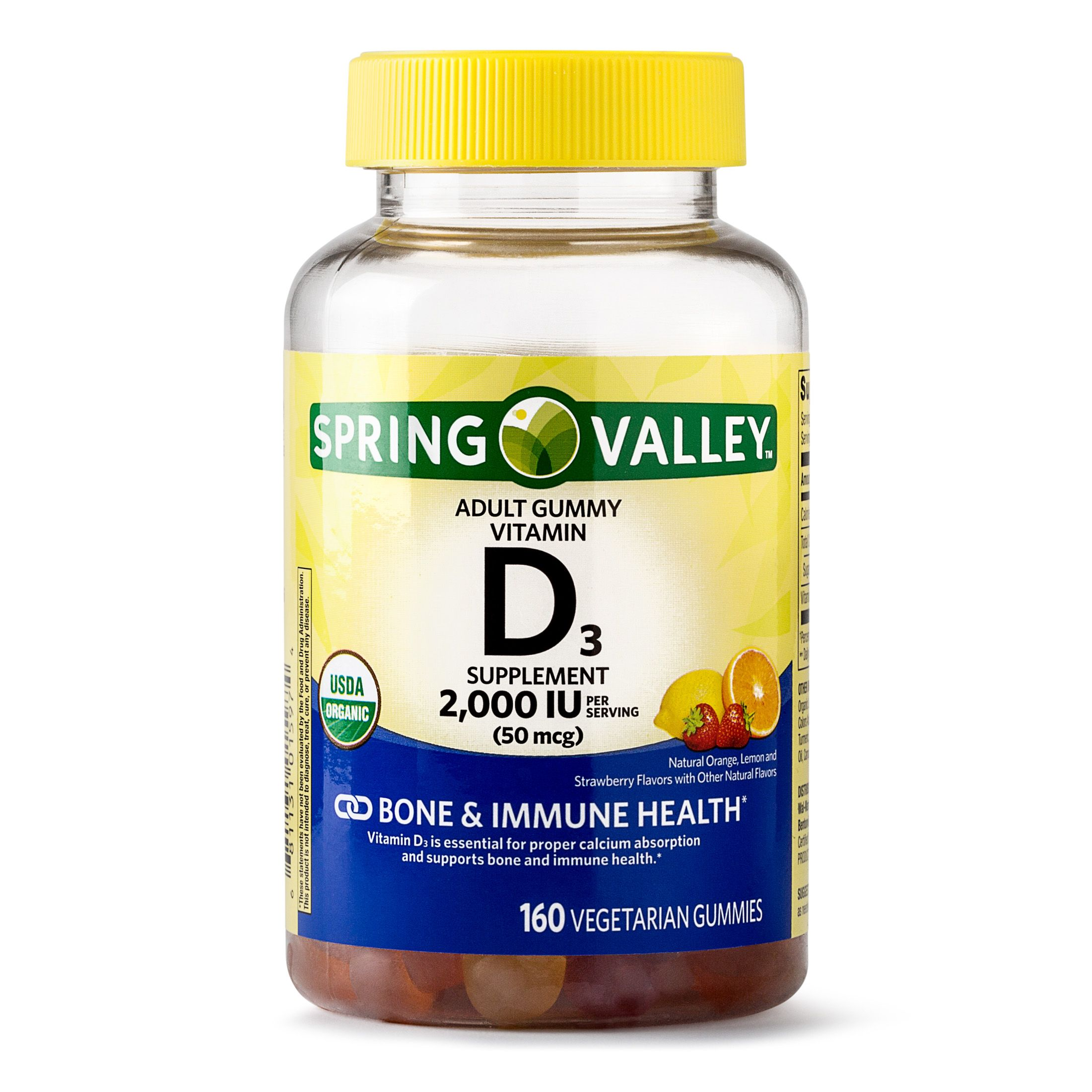 Free 2 Day Shipping Buy Spring Valley Vitamin D3 Gummy 2000 Iu 50 Mcg 160 Ct At Walmart Com In 2020 Vitamins For Vegetarians Spring Valley Vitamins