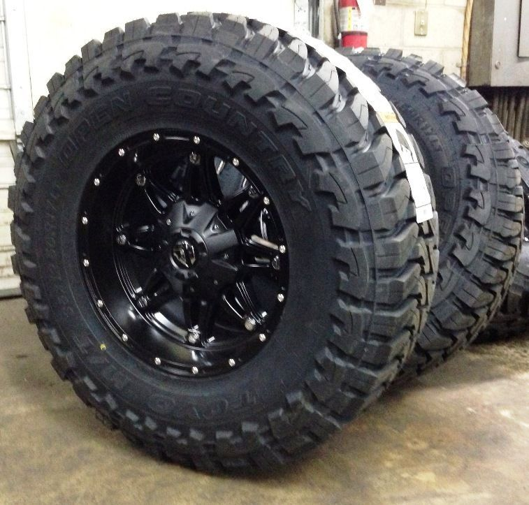 5 17 fuel hostage black wheels jeep wrangler jk 35 toyo mt tires package jeep wheels. Black Bedroom Furniture Sets. Home Design Ideas