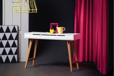 eiche massiv schreibtisch sekret r konsole anneke s original mca 120cm schreibtisch schmal. Black Bedroom Furniture Sets. Home Design Ideas