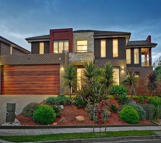 Modern Architecture Facade From Bricks Wood Stone Architecture House Facade House House Exterior
