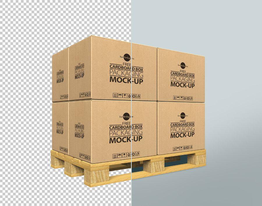 Download Free Cardboard Box Psd Mockup Free Design Resources Packaging Mockup Box Mockup Free Packaging Mockup