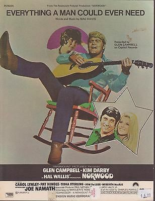 Sheet Music 1970 Everything A Man Could Ever Need Glen Campbell 256