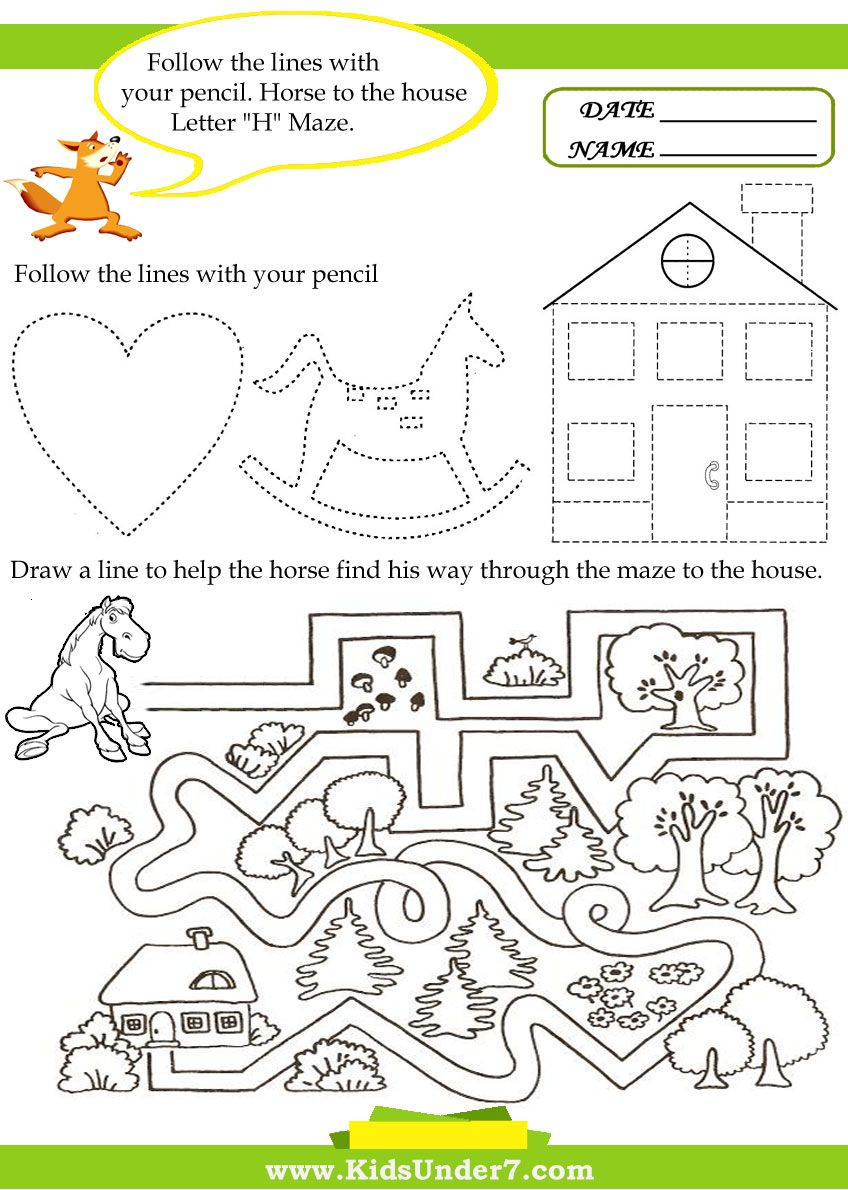 Worksheets Letter H Worksheets letter h worksheets 1 is for horses practice tracing slanted lines 2