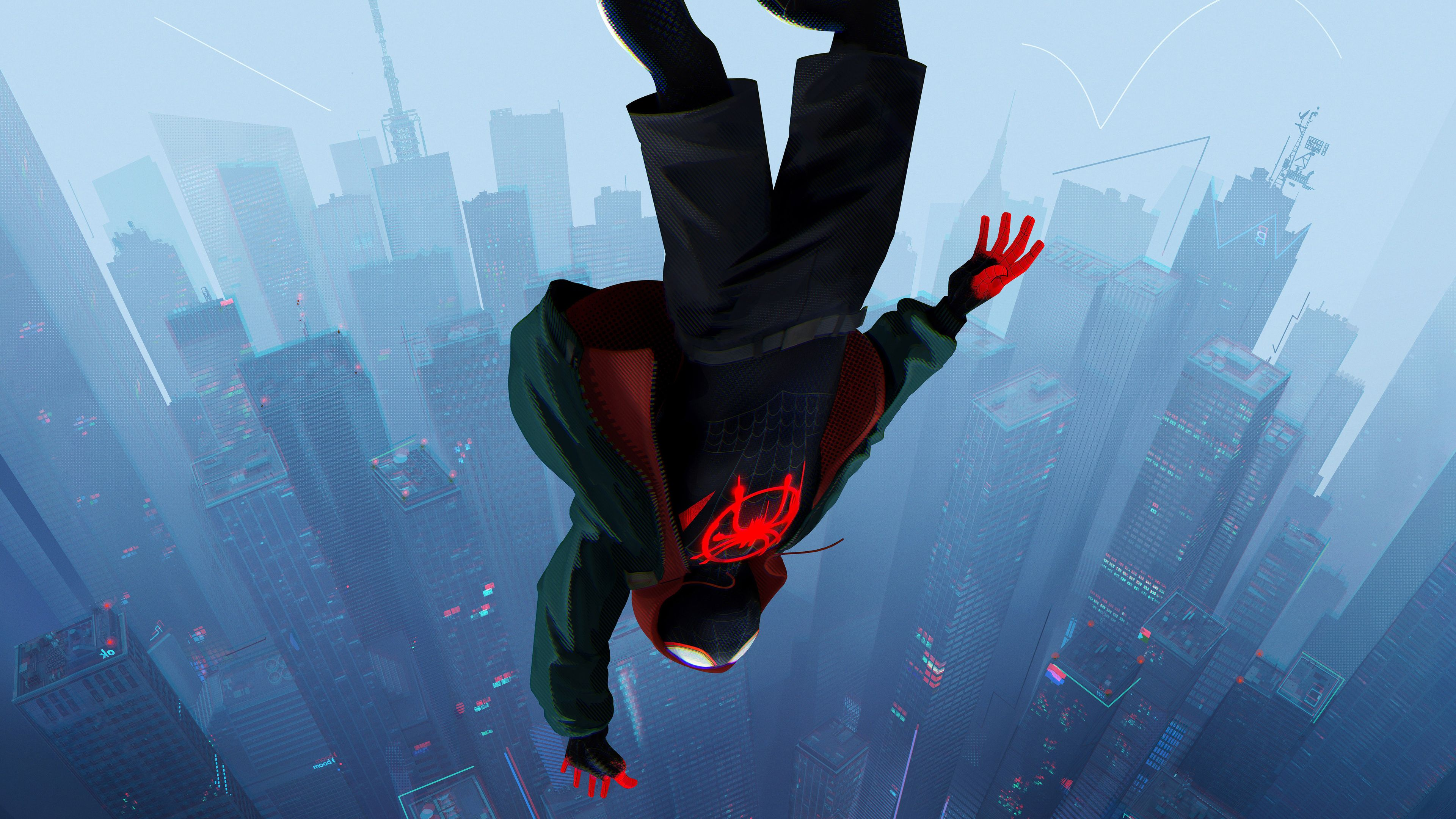 General 3840x2160 Spider Man Into The Spider Verse Miles Morales Spider Man Marvel Comics Movies Animated Movie Spider Verse Marvel Comics Wallpaper Spiderman