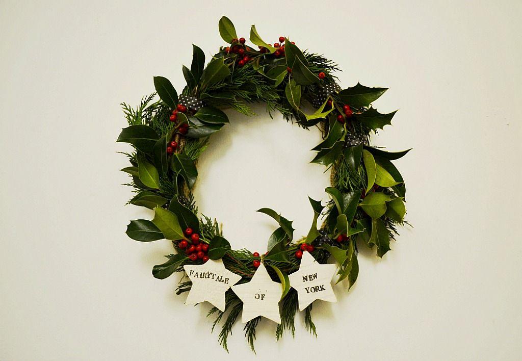 Fairytale of New York Christmas wreath