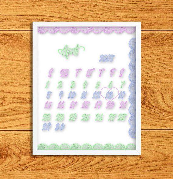 LAST DAY SALE 50 Custom calendar with due date Custom pregnancy