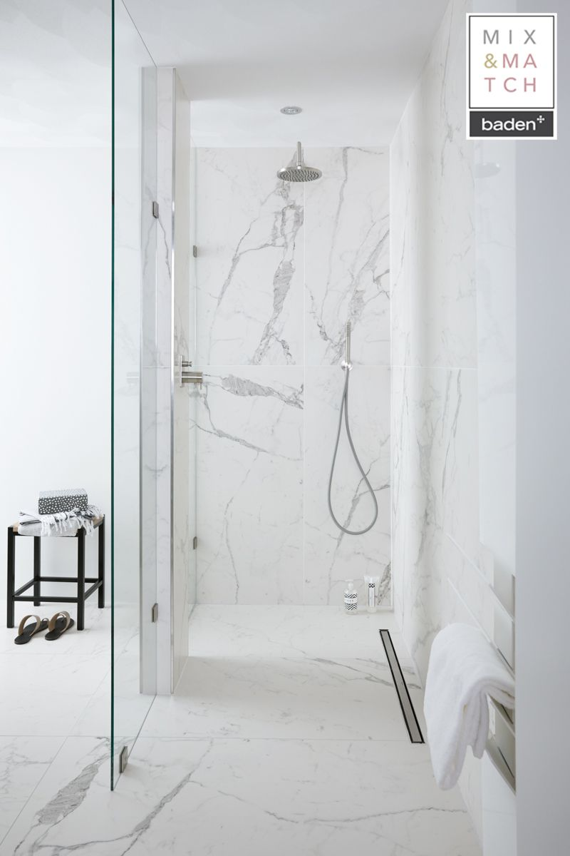 Baden+ Mix & Match All Marble badkamer   Badkamers   Bathrooms ...