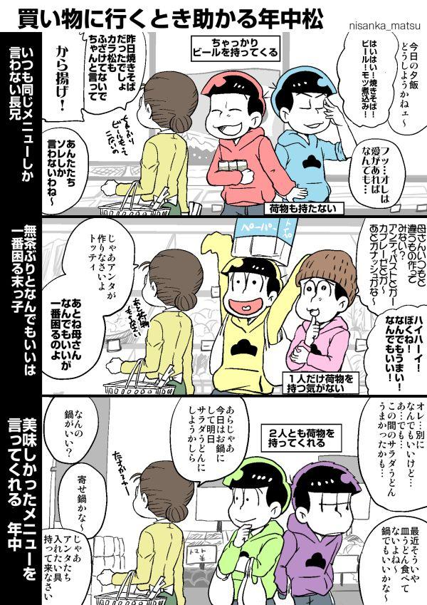 #おそ松さん 六つ子生誕祭 - くろさびのイラスト | Crear