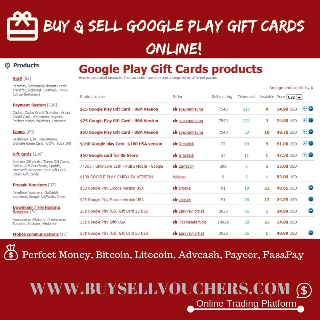 Sell Google Play Gift Cards For Cash Itunes Gift Cards Gift Card Sale Sell Gift Cards Online