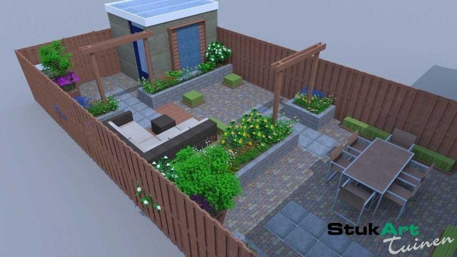 Tuin Ontwerpen Voorbeelden : Tuinontwerp kleine tuin houten utrecht stijlvolle kleine tuin