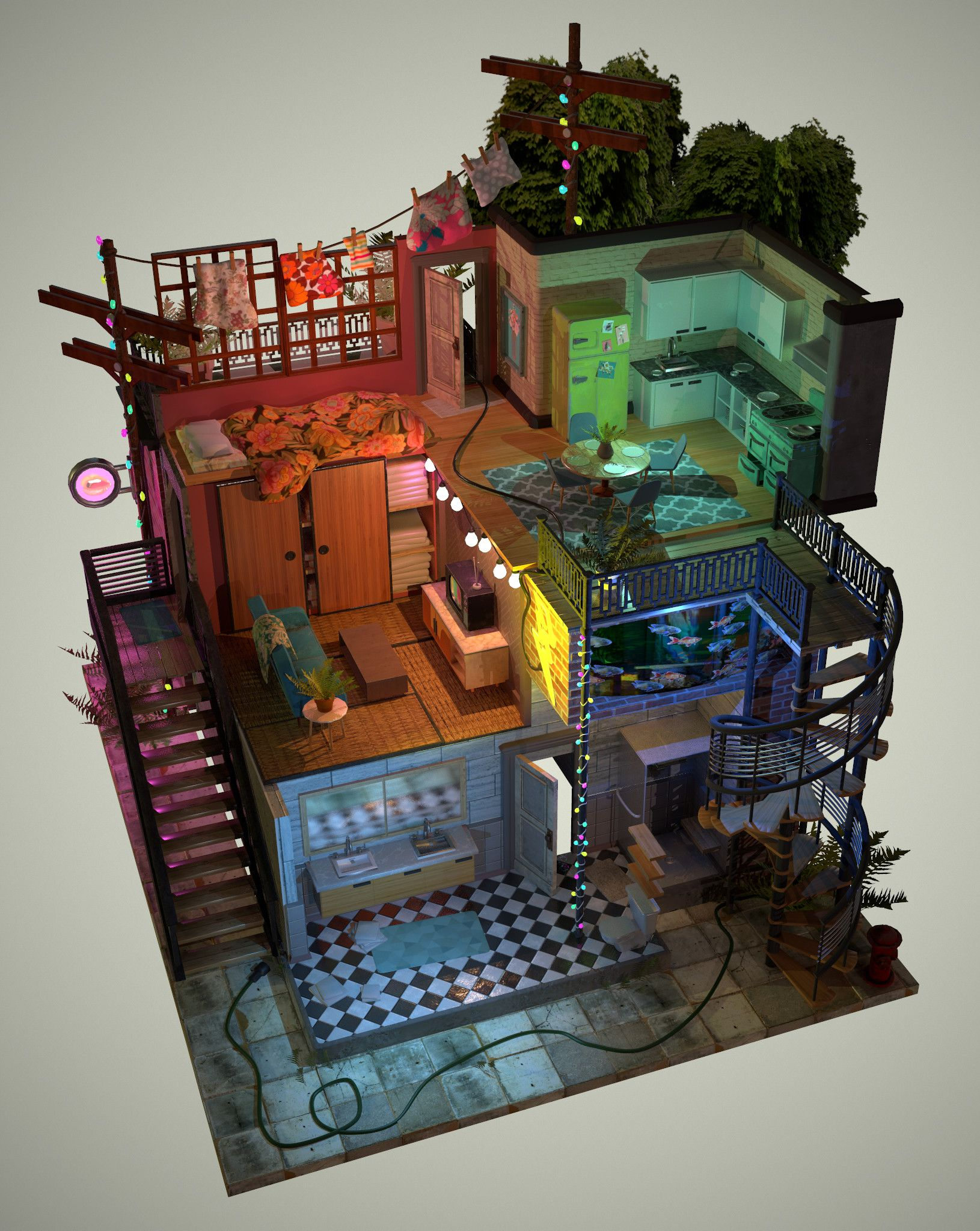 Isometric Apartment Kassondra Krahn