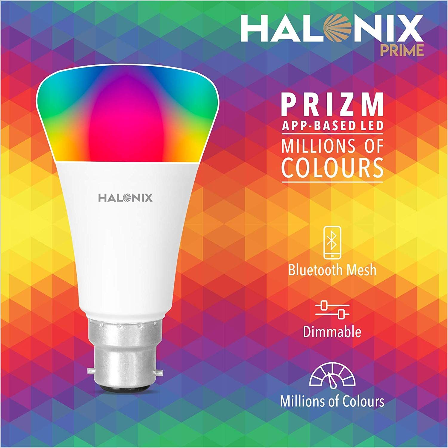 Control Lights From Smartphone With Halonix Bt Free App For Android Smartphones Iphone And Ipad You Can Control Lights In Your Home Its Ver In 2020 Led Bulb Bulb Led